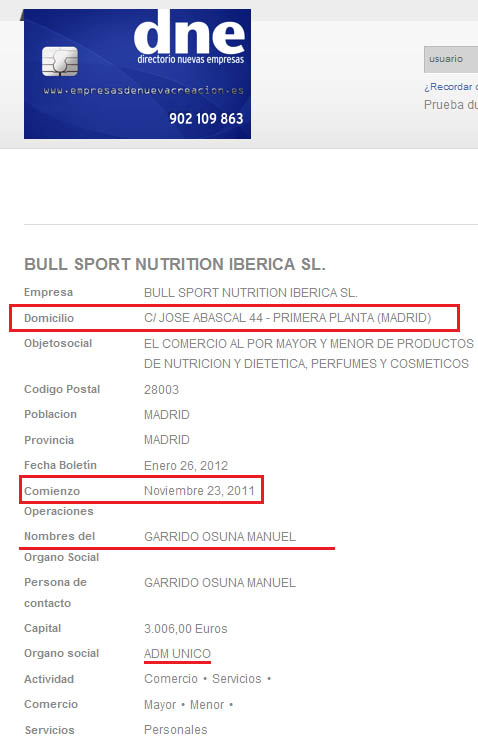 Estafa Bull Sport Nutrition