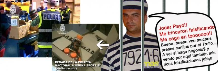 masmusculo detenidos falsificaciones tienda redada