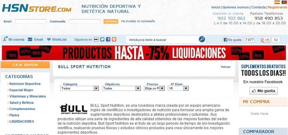 HSN Store con la estafa de Bull Sport estafa