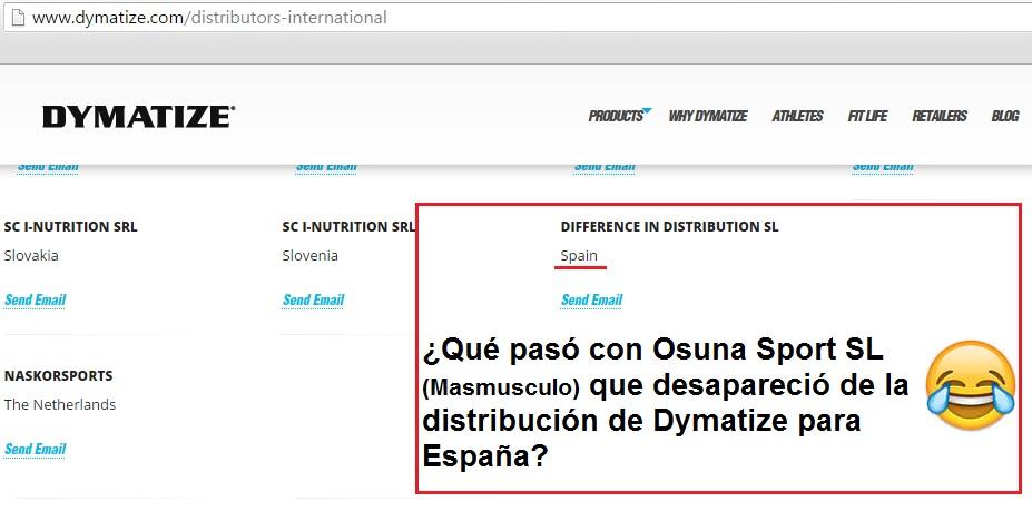 Dymatize expulsa a Osuna Sport SL (MASmusculo).