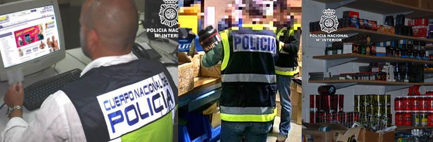 Redada por la policía a Masmusculo - Osuna Sport SL en Albolote (Granada)
