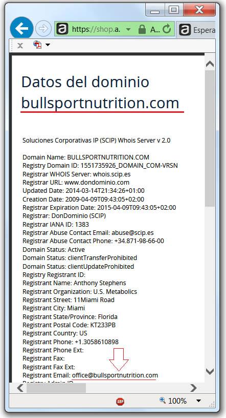 Datos Dominio Bullsportnutrition (2014)