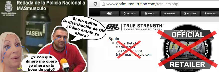 Masmusculo Expulsado de la distribución por Optimum Nutrition